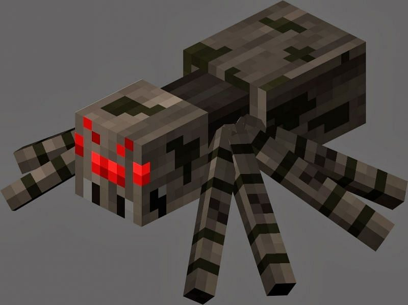 Regular spider appearance in Minecraft (Image via strangegaming.blogspot.com)