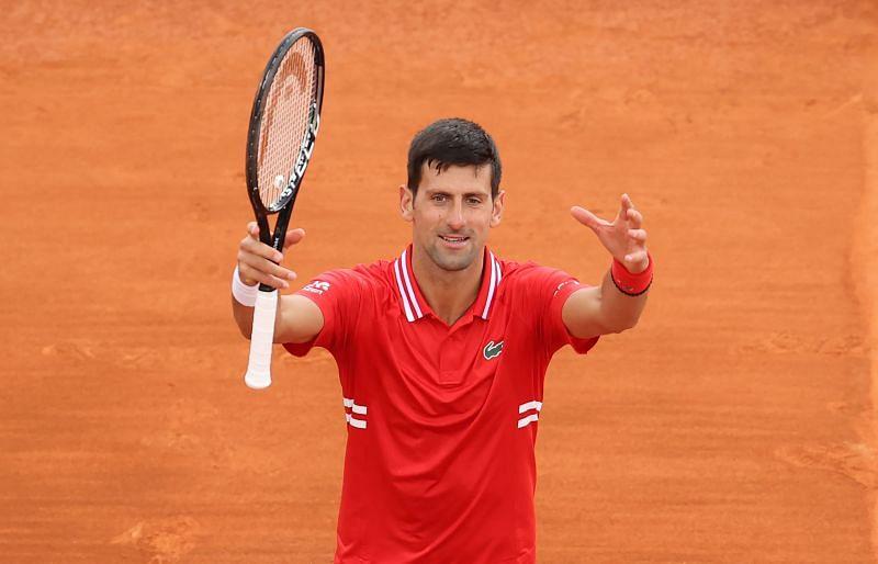 Novak Djokovic after his win over Jannik Sinner at the Rolex Monte-Carlo Masters