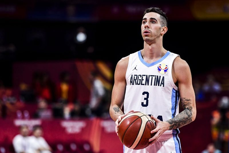 Luca Vildoza in action during the FIBA World Cup 2019