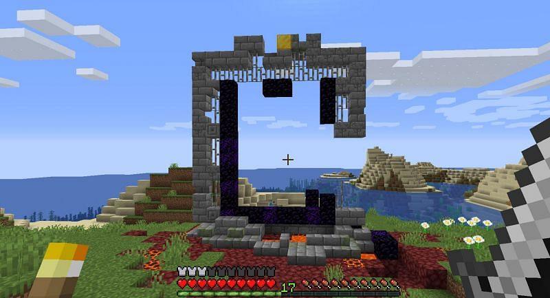 Se muestra: Un portal gigante en ruinas (Imagen a través de u / kt2909 en Reddit)