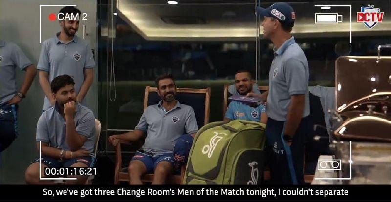 DC head coach Ricky Ponting (R). Pic Credits: Delhi Capitals Twitter