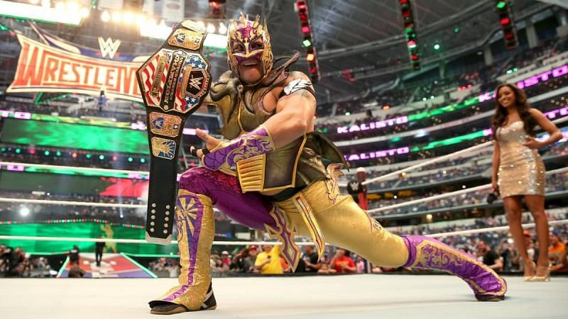 Kalisto as the United States Champion.