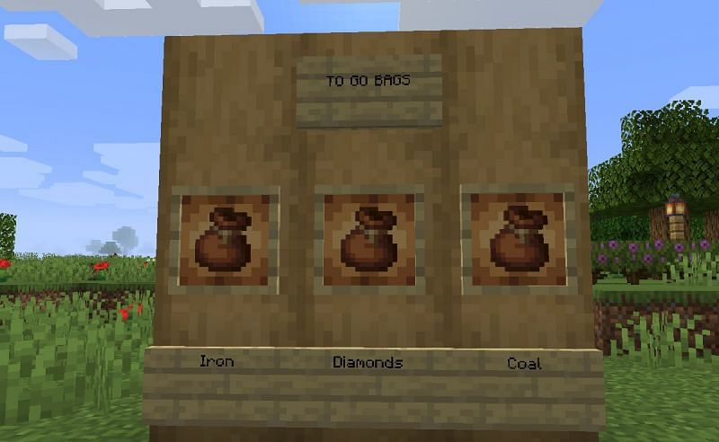 Shown: Bags that can be grabbed right before an expedition (Image via Minecraft)