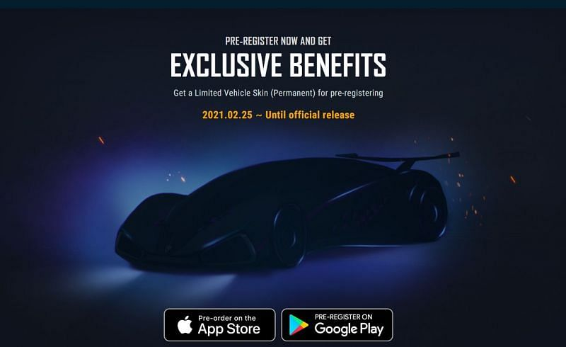 Players will get the Limited Vehicle Skin (Permanent) for pre-registering