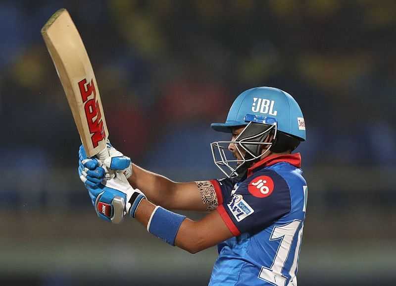 Prithvi Shaw in action during the IPL Qualifier last season