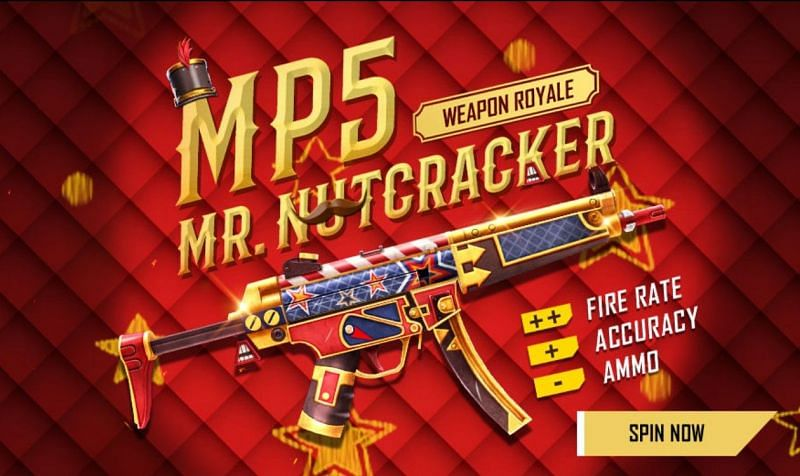 Players can obtain Mr Nutcracker MP5 skin from the weapon royale voucher