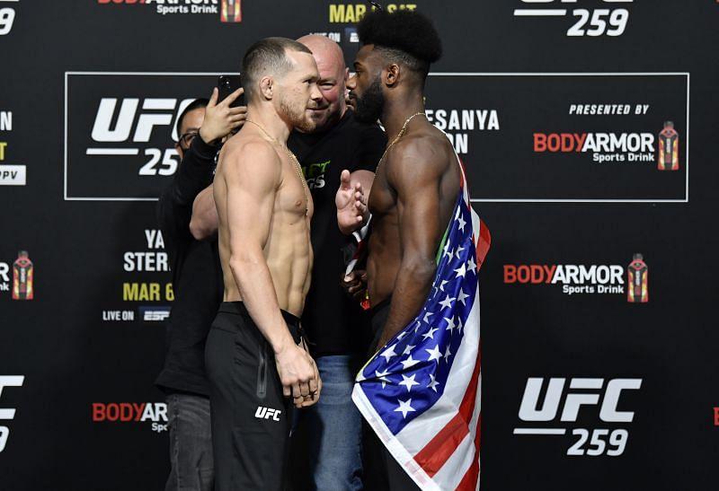 UFC 259 Yan v Sterling: Weigh-Ins