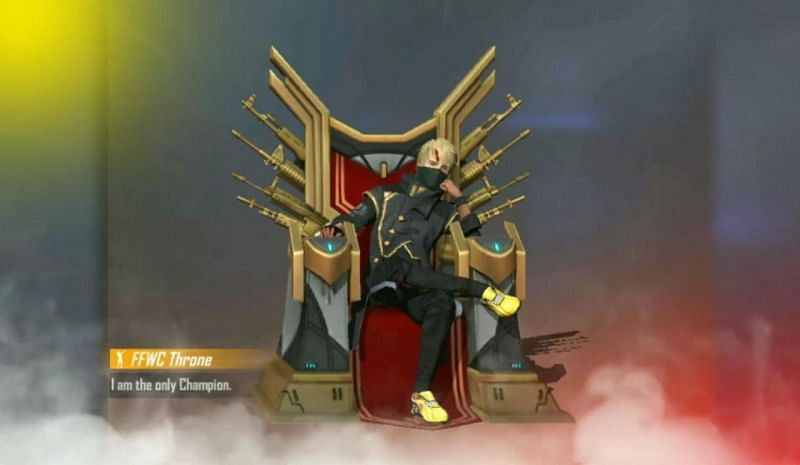 The FFWC Throne emote in Free Fire