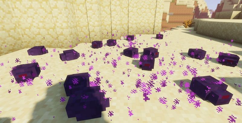 Endermites will attack players and iron golems within 16 blocks of them (Image via Minecraft)