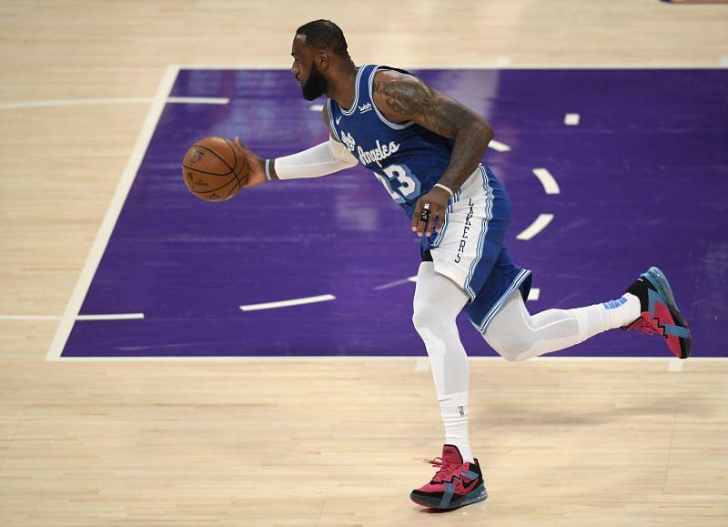 LeBron James (#23) of the LA Lakers
