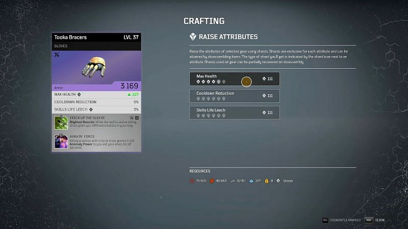 Outriders crafting guide: Raise Attributes (Image via ITZ JIMBO, YouTube)