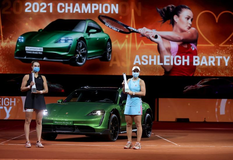 Ashleigh Barty beat Aryna Sabalenka to triumph at Stuttgart