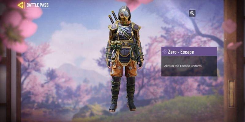 The Zero - Escape uniform (Image via Activision)
