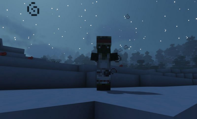Shown: A Zombie Villager beginning to transform (Image via Minecraft)