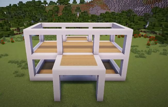 The upstairs structure must now be formed (Image via YT, Greg Builds)