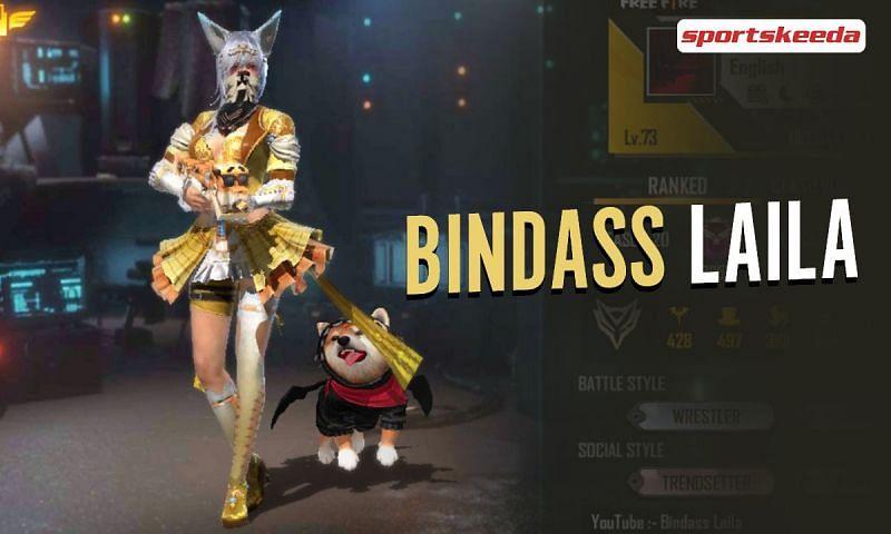 Bindass Laila is a budding Free Fire content creator