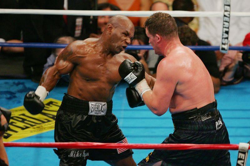 Mike Tyson hitting