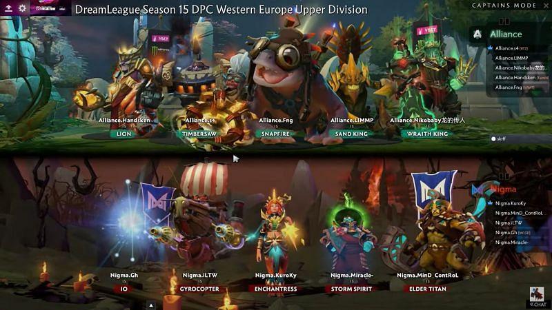 Match 1 draft (Image via Dream League)