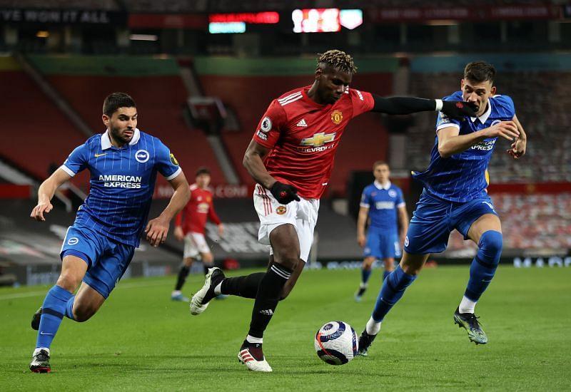 Manchester United defeated Brighton & Hove Albion 3-1.