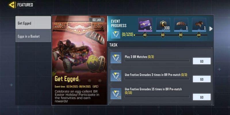 A total of nine tasks should be completed to procure rewards (Image via Activision)