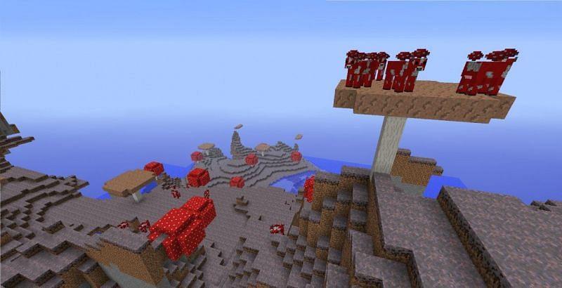 Mushroom island Minecraft (Image via planetminecraft)
