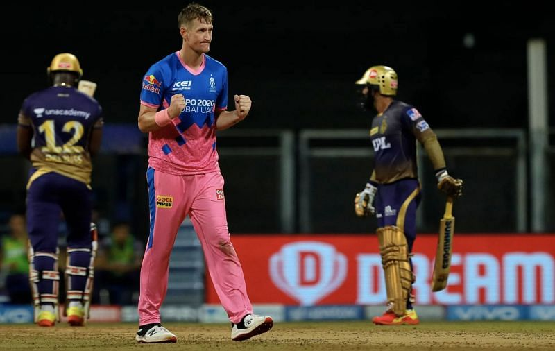 Chris Morris celebrates the wicket of Andre Russell (Photo: BCCI)