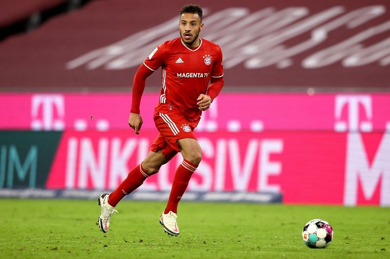 Corentin Tolisso in action for Bayern Munich