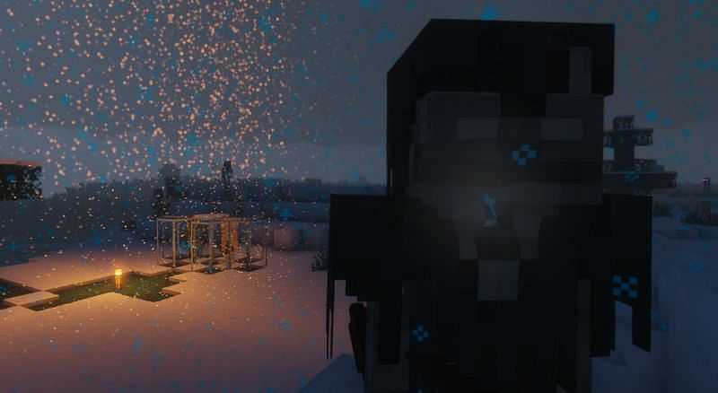 Shown: A Stray looking at the player hauntingly (Image via Minecraft)