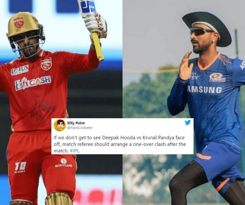 Fans excited to see the face-off between Deepak Hooda and Krunal Pandya in the PBKS vs MI game