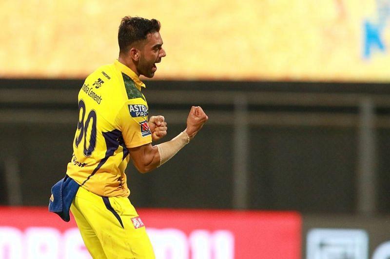Deepak Chahar had a night to remember in IPL 2021 (Image courtesy: IPLT20.com)