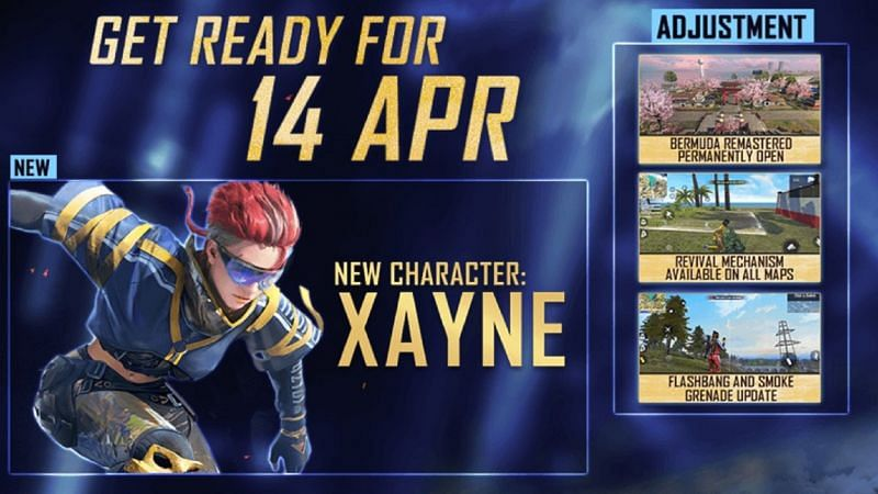 New Xayne character in Free Fire