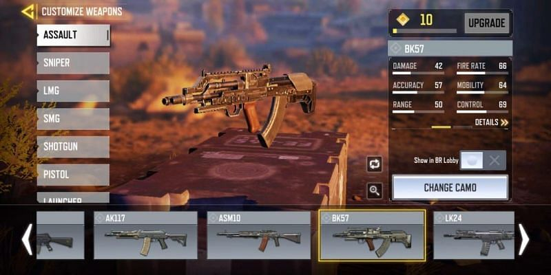 BK57 with in-game stats (Image via Activision)