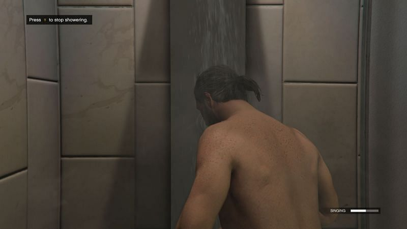 Players can gain RP when they sing and shower (Image via GTA Online Reddit)