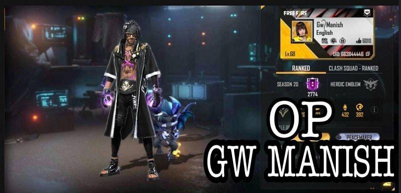 GW Manish की Free Fire ID