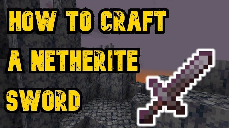 The Netherite sword is the most powerful sword that players can have  (Image via Carbon Gaming)