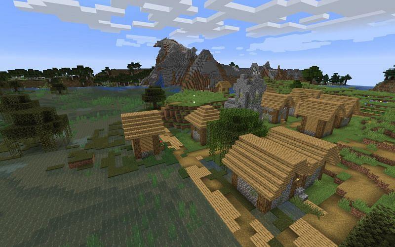 Village in Minecraft (Image via varanasilawacademy.com)