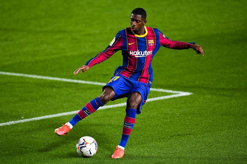 Dembele in action for Barcelona