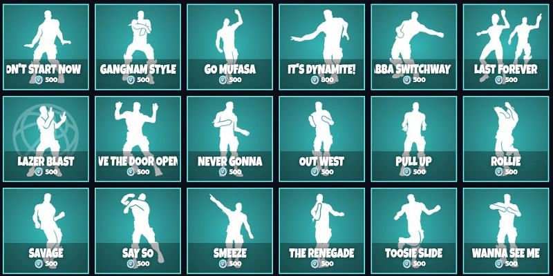 Players can lay their hands on all the Icon Series emotes for now (Image via fnbr.co)