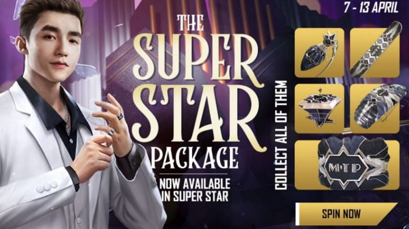 Free Fire has  today launched a brand new event called the Super Star Package (Image via Garena Free Fire)