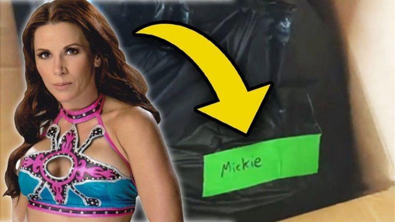 WWE sent Mickie James her belongings in a garbage bag