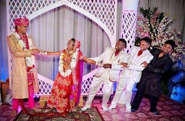 Sunil Narine with Friends