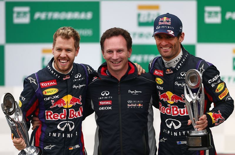 Vettel and Webber were teammates at Red Bull. Photo: Clive Mason/Getty Images.