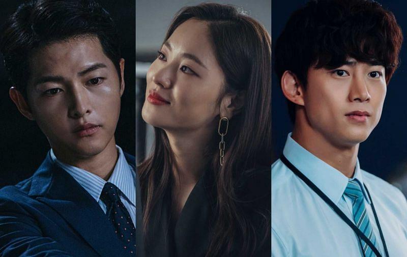 Song Joong-ki, Jeon Yeo-been, and Ok Taec-yeon in Vincenzo (Image via tvN/Netflix)