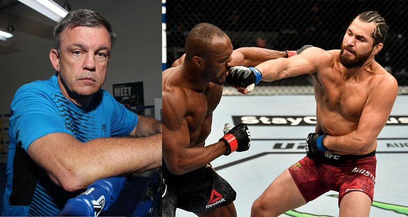 Teddy Atlas (Left) and Jorge Masvidal during his first fight against Kamaru Usman (Right)