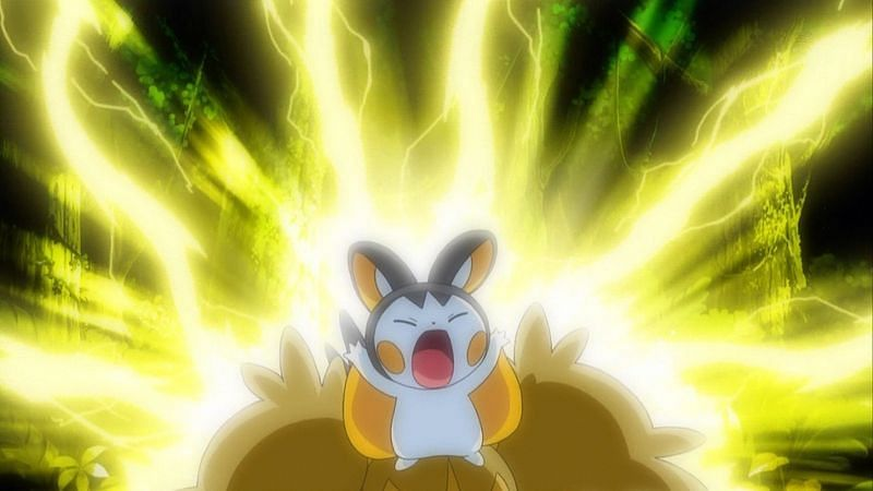 A Pokemon using Discharge in the anime (Image via The Pokemon Company)