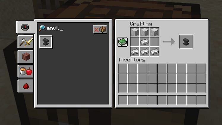 The only tool that can be used to create Netherite armor is an anvil (Image via Minecraft)