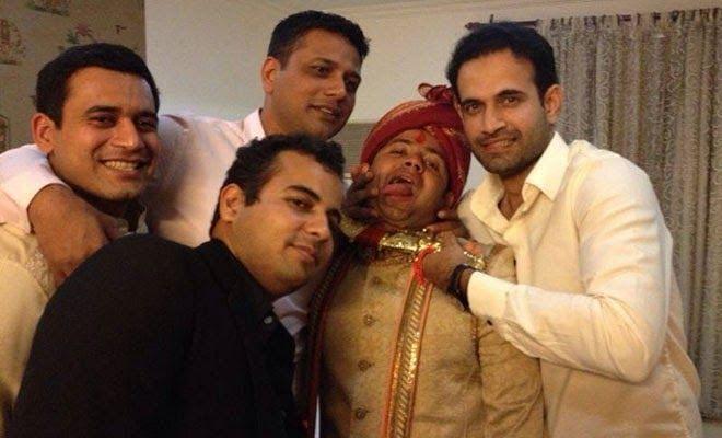 Piyush Chawla with Friends