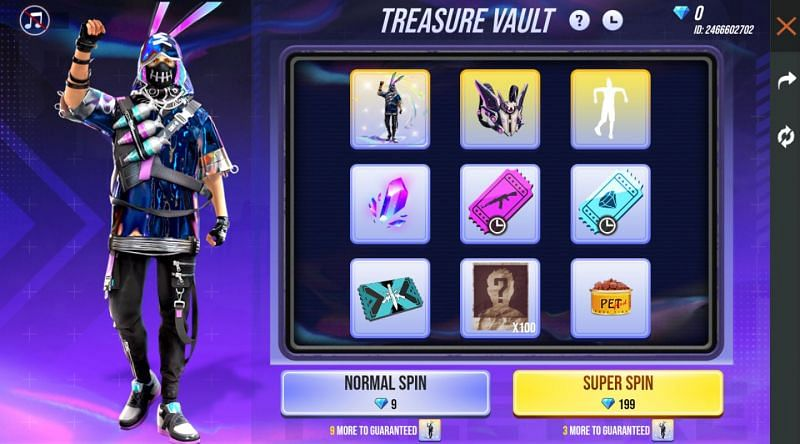 Treasure Vault event in Garena Free Fire