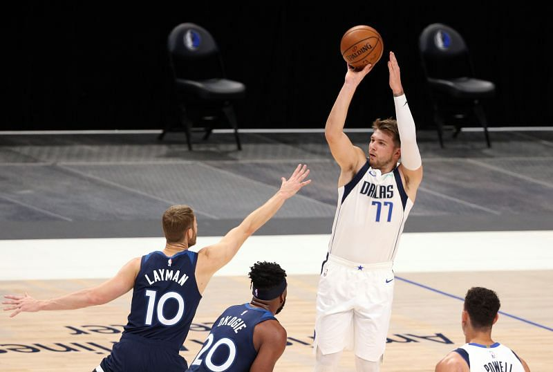 Luka Doncic of the Dallas Mavericks is one of the favorites to win the 2020-21 NBA MVP title this season.