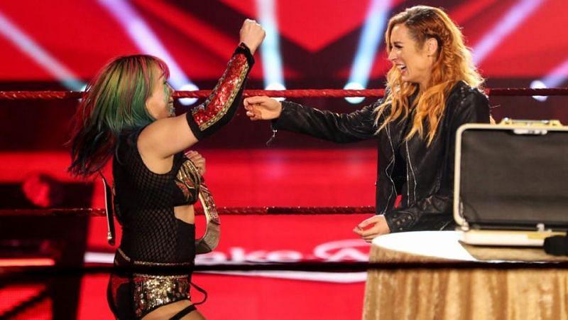 Asuka received Becky Lynch